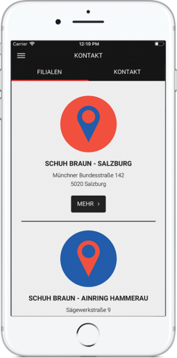 Schuh Braun App